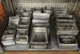 Various gastronorm pans