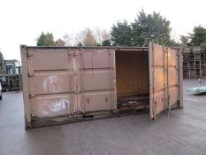 20ft Side and end opening Iso container - 8ft x 8ft x 20ft External Dimensions (Poor condi