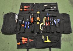 Tool kit in roll up pouch