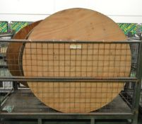 9x Round Wooden Tables with folding legs - 5ft diameter