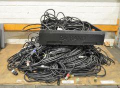 Various Cables - XLR, Speakon, Power Lead (various lengths)