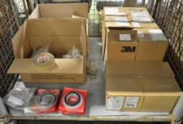 Various Adhesive Tape - Olive Cloth, Black Duct, Rubber, Electrical Tape