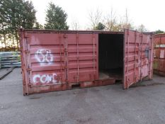 20ft Side and end opening Iso container - 8ft x 8ft x 20ft External Dimensions (Rust marks