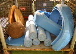 Exercise Equipment Wobble Board & Foam balance Beam Roller, medicine ball