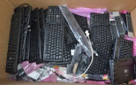 Various Computer, CCTV Keyboards, IT Cables & Toshiba Remote Controls