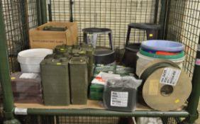 Domestic Equipment - Abrasive Pad, Paper Towel, Bucket, Elastic Cord, Metal Can