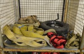 Various Lifting Equipment - Strops, Sling, Steel Cable, Winch