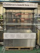Sandwich chiller display counter - 1380 x 740 x 1880mm