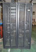 2x Server / Electronic Racks APC Schneider - 1200mm wide x 1070mm deep x 2000mm high