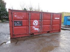 20ft Side and end opening Iso container - 8ft x 8ft x 20ft External Dimensions (Very poor