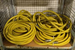 4x Yellow High Pressure Hoses