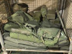 Army Surplus Dispenser Coil ,Net Protector, Holder, Signal Flag