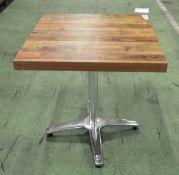 Bolero Square Table Top Dark Urban / Alum Base 700mm x 700mm x 730mm