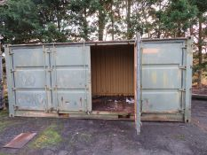20ft Side and end opening Iso container -8ft x 8ft x 20ft External Dimensions (Poor condit