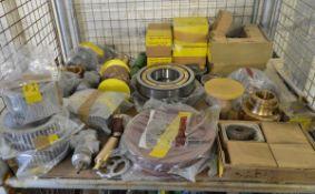 Fan impellers, shut off valves, bearings, worm shaft turners