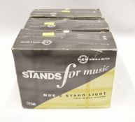 3x Konig & Meyer Music Stand Lights - 230V 25W