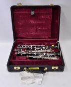 Pair of Buffet Clarinets in Case. Parts missing. Serial Nos. 274581 & 274585.