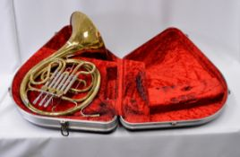 French Horn with Case. Obvious dents. Serial No. 615181.