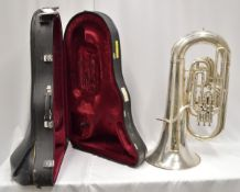 Boosey & Hawkes Imperial Tuba with Case. Obvious dents.Serial No. LP 398883.