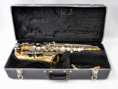 Selmer Bundy II Alto Saxophone with Case. Obvious dents. Serial No. 742224.