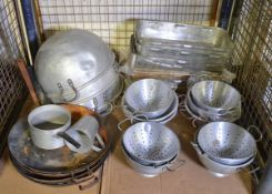 Various Catering equipment - Mixing Bowls, Colanders, Fry Pans, Bake Pans