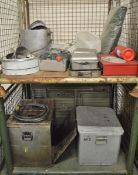 Field Catering Kit - Cooker. Oven, Utensils in storage box, pots, pans, fire blanket box