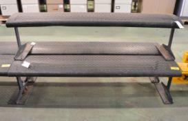 3x Metal Benches L1800 x W400 x H450 mm