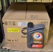 Total Quartz 5W-40 engine oil - 18x 1L bottles