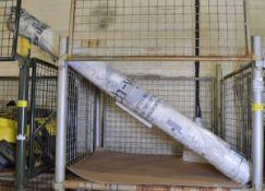 5x Rolls of white heavy duty fabric - 100 yards per roll approx.