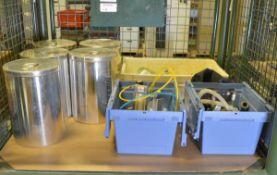 Laboratory Pewter Storage Tins, Glass Desiccators Bowls, Specac Diffuse Selector Chamber U