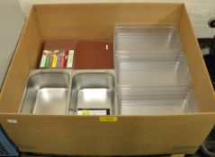 Catering equipment - Plastic Chopping Boards, Slicing Discs, Steel Pot