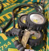 3x Self Centered Tyre Pressure Gauges