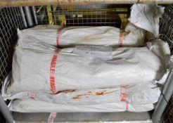 6x Flame retardant tarpaulins - 6M x 6M - 27kg each - White