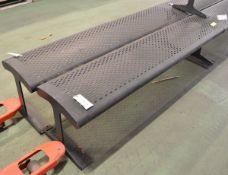 2x Metal Benches L1800 x W400 x H450 mm