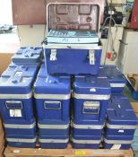 27x Toolboxes - Empty - with foam inserts