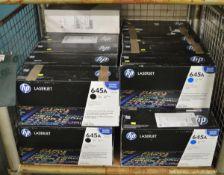 11x HP LaserJet 645A C9731A Cyan Print Cartridges, 7x HP LaserJet 645A C9733A Magenta Prin