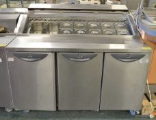 Williams CPC 3 R1 3 Door Refrigerated Prep Counter