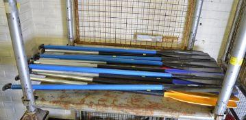15x Aluminium / Plastic Canoe Paddles