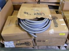 7x Liquatite Gray Flexible Pipe Conduit 21mm x 30.5m