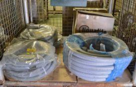 Liquatite Gray Flexible Pipe Conduit 35mm x 30.5M, Liquatite Gray Flexable Pipe Conduit 16