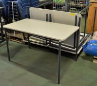 5x School Tables - L1215 x D685 x H720mm