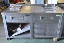 Nuttall Stainless Steel Heated Bain Marie Unit - L1500 x D750 x H960mm