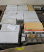 Vehicle parts - Air Filters, Fuel Filters, Pad Sets & Stick on Mirror Glass - see picture