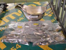 EPNS 1 pint Sauceboat, 50x EPNS Coffee Spoons