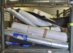 Rolls of heavy duty fabric & rubber - unknown lengths