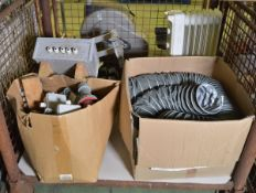 Ducting, electric oil radiator, junction boxes, motor jig assembly