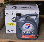Total Quartz 5W-30 engine oil - 3x 5L bottles