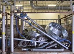 Heavy duty castors, pipework, ducting sleeves