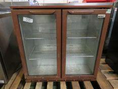 2 door display fridge - 900 x 500 x 900mm