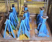 8x DMCN Blue Automotive Axle Stands 2000kg